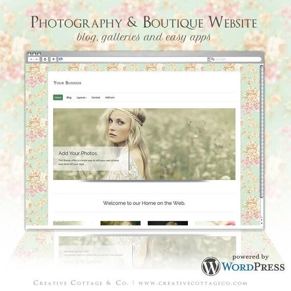 SALE! WordPress Boutique Website Theme- Joli Millesime