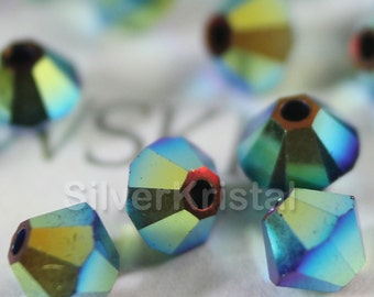 Promotion Item - 144pcs Swarovski Elements - Swarovski Crystal Beads 5328 3mm Xillion Beads - Jet AB2X