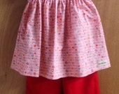 Peasant Top and Ruffle Pants, girls size 8
