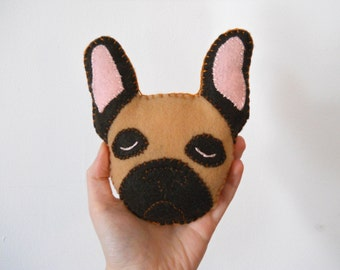 Felt French Bulldog Plushie - Ralph