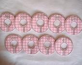 pink gingham closet divider set