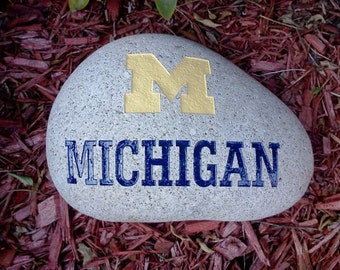 Large Engraved College Logo Stone