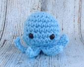 Any color - One Octopus Crochet Amigurumi - Tiny Cephalopod Pocket Sized - Crochet ornament -  Soft Plush Toy - Octopus Ornament - Unbreakab