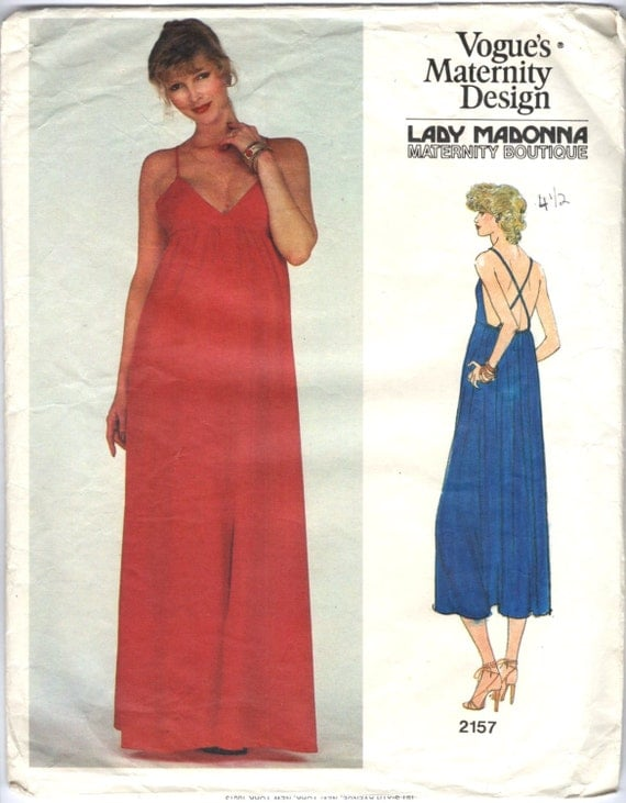 1970s Lady Madonna maternity dress pattern - Vogue 2157