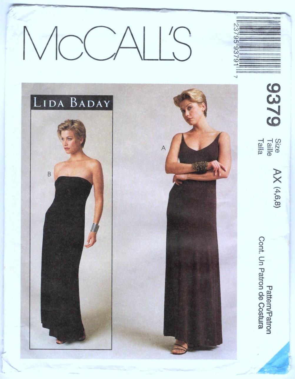 1990s Lida Baday dress pattern - McCall's 9379