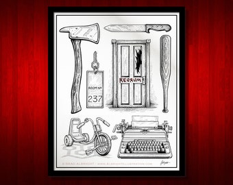 The Shining Movie Poster - Prop Illustrations