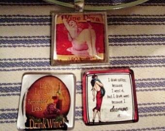 Vintage Wine Pendant - one item