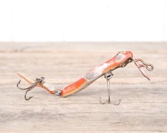 Fishing Decor / Vintage Fishing Lure / Hopper Stopper Fishing Lure / Antique Fishing Lures / Plastic Lure / Dad Fishing Lure Gift / Red Lure