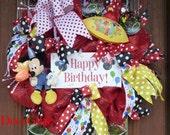 MICKEY MOUSE Happy BIRTHDAY Wreath