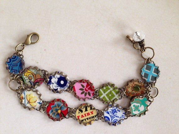 Tin jewelry bracelet gypsy tin for the tenth ten for 10th wedding anniversary jewellery