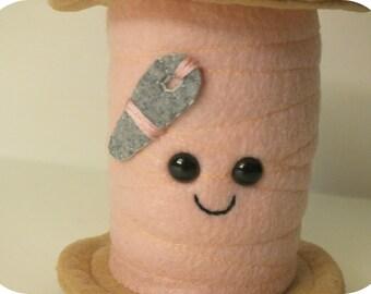Mini Thread Spool Plush - Light Pink
