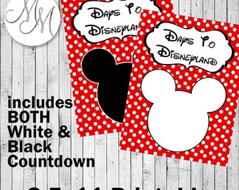 Countdown to Disneyland Printable 8.5x11