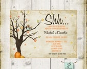 Autumn Baby Boy Or Girl Shower Invitation | Fall Baby | Pumpkins and Owls | DIY Printable File
