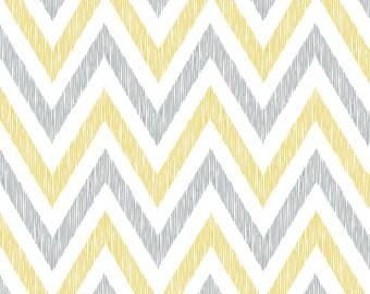 Cloud9 Organic Fabrics - Simpatico - Chevrons Golden C 1/2 YD