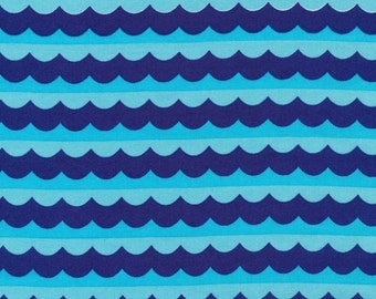 Cloud9 Organic Fabrics - Seven Seas - High Seas Blue 1/2 YD