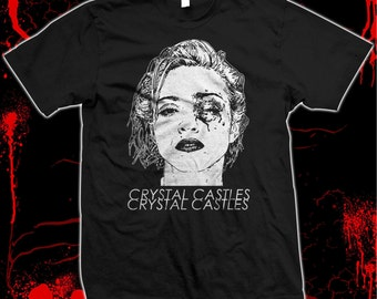 Crystal Castles - Madonna Bruised - Pre-shrunk, hand screened 100% cotton t-shirt