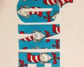 DIY No Sew Dr. Seuss Iron On Letters Applique