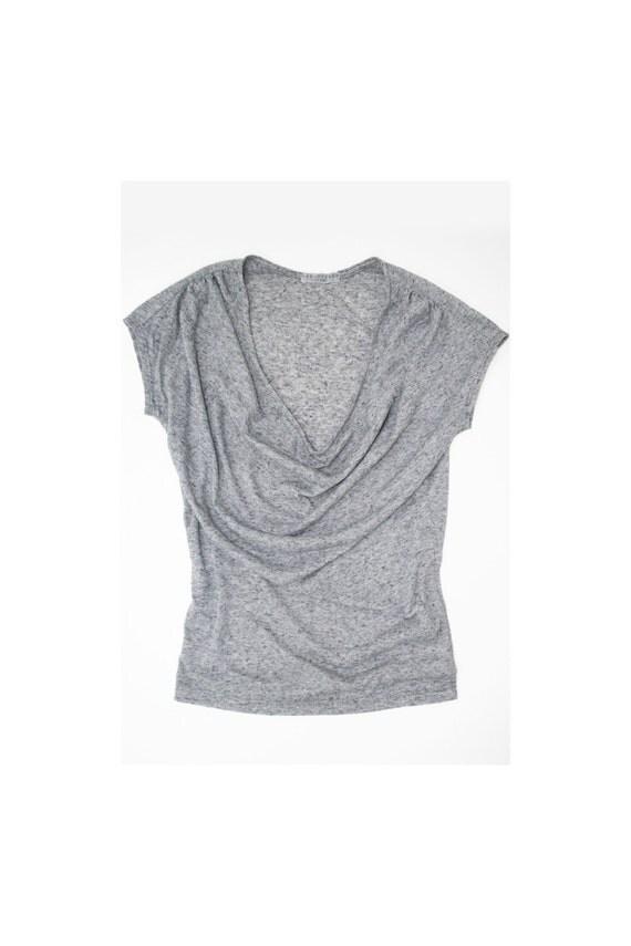 Slub Linen Drapey Jersey Top - Black Speckle, Slate Blue, or Pink Speckle | Small, Medium, Large