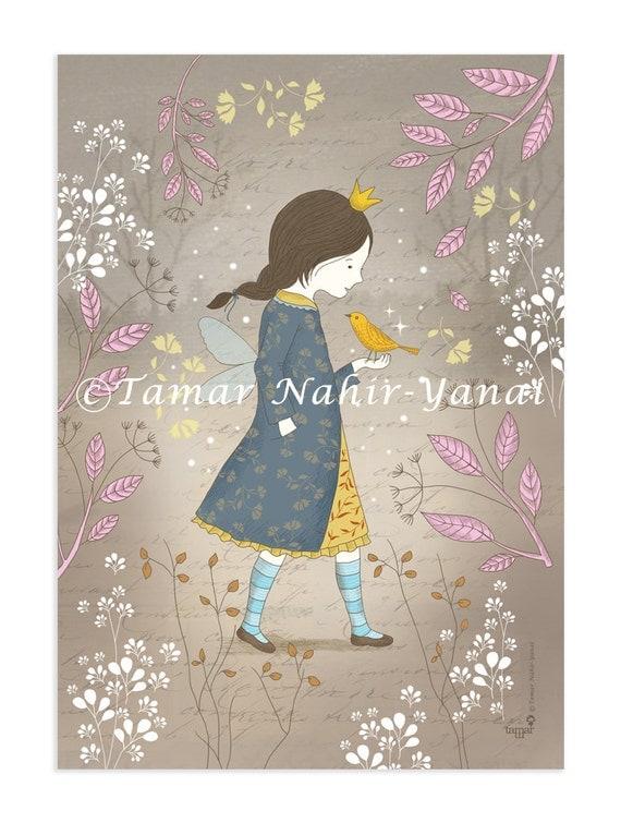 Original Art Print - Winter Princess
