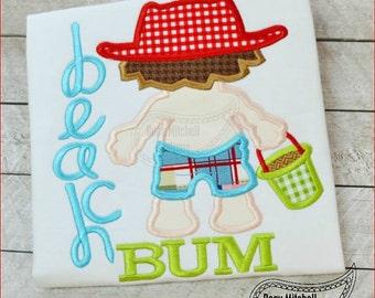 Beach Bum Applique Shirt - Boy's Applique Shirt - Custom Colors available