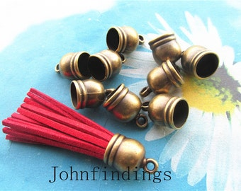 Promotion sale 20pcs 16x12mm antiqued bronze tassel caps/cord end/cord terminer charms findings