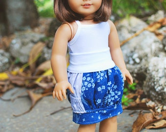 Brewster's Bubble Pocket Skirt PDF Pattern in Doll Sizes