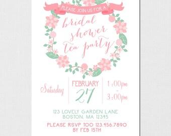 Bridal Shower Garden Party, Garden Party, Bridal Shower Tea Party, Garden Party Tea Party, Bridal Shower Floral Theme, Printable DIY