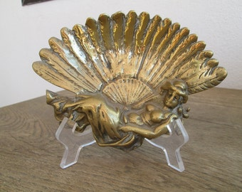 Art Nouveau Brass Pin Tray