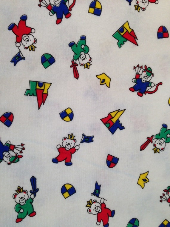 children 39 s print cotton jersey knit fabric 3 yards