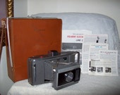 Vintage J 66 Polaroid Land Camera w/ Leather Carrying Case & Original Manuals Just 9 USD