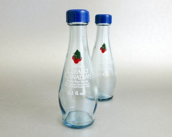 Miniature Bottles Salt and Pepper Shakers - Clearly Canadian Wild Cherry Sparkling Water - Kitchen Decor BBQ Accessory - Vintage Advertising