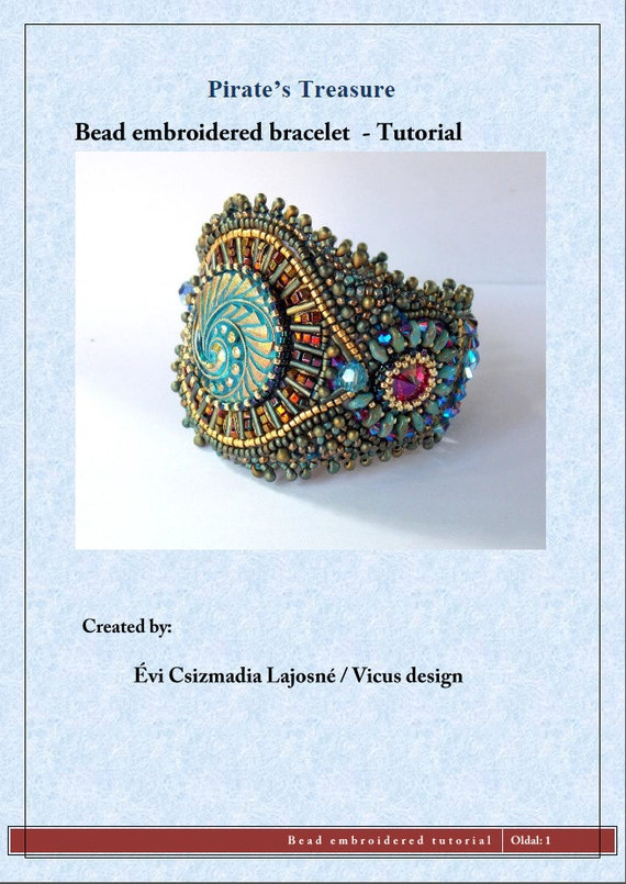 Tutorial bead embroidery beading pattern instructions by vicus