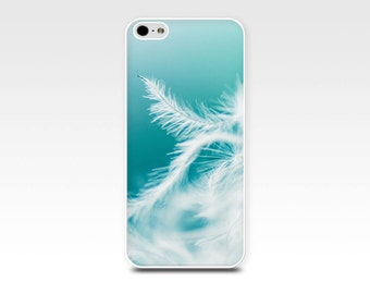 feathers iphone case 6 iphone 5s case abstract iphone case 4s dandelion iphone case 4 girly iphone case 5 aqua teal iphone case pastel blue