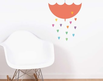 Umbrella Rain Removable Wall Sticker | LSB0099WHT-MBZ