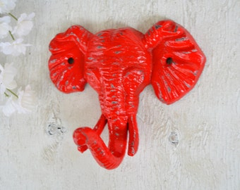 Elephant Hook, Cast iron Hook, Coat Hook, Robe Hook, Kids room decor