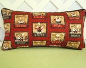 Savor the Flavor  Chef Pillow in Paprika Red and Black /Accent Pillow/ Kitchen or Dining Decor