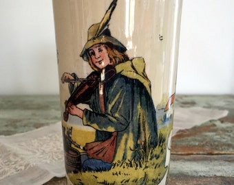 Antique Villeroy and Boch Mettlach 1/4 Liter Stein Beaker Music and Beer Cup