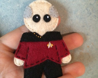Star Trek TNG Captain Picard Uniform Pin