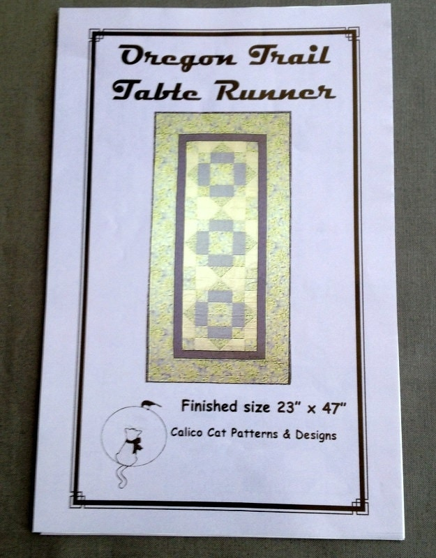 Quilted Table Runner Pattern Oregon Trail Pattern For