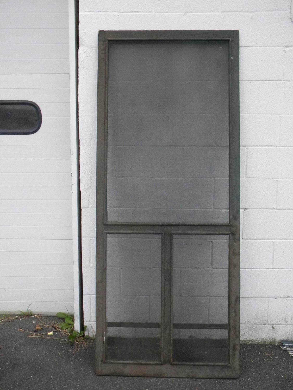 Country Screen Doors : Good solid shape antique s or so country screen door pick