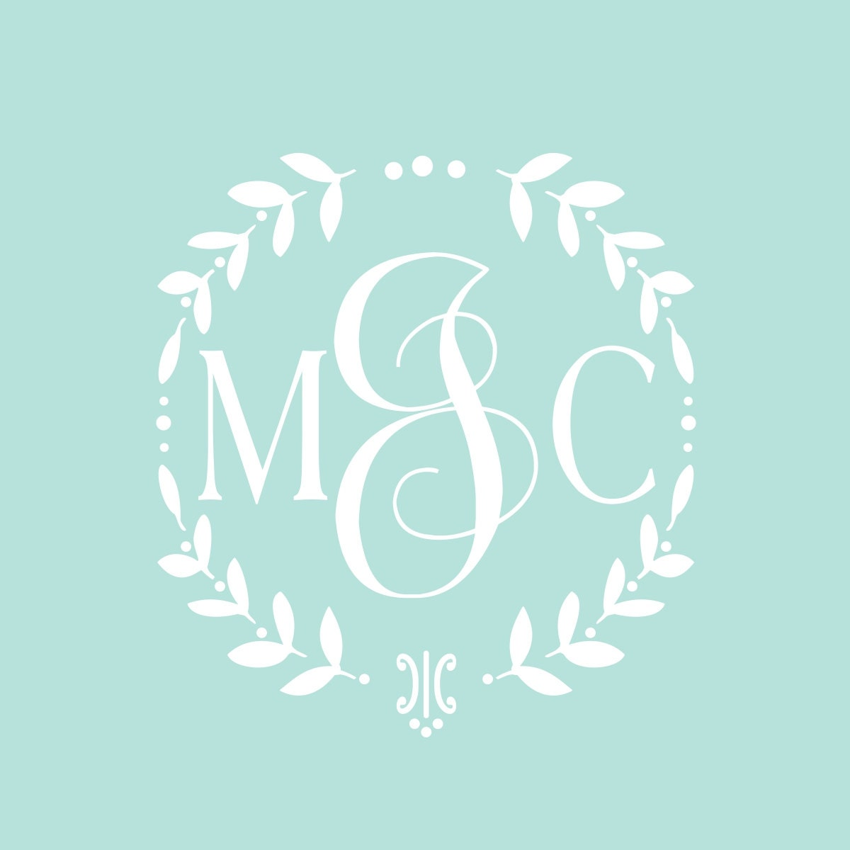 vine monogram decal baby girl nursery wall decal wreath monogram cornhole wedding decal set. Black Bedroom Furniture Sets. Home Design Ideas