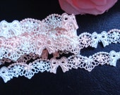 1/2 inch wide embroidery flower lace trim selling by the yard