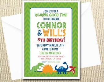 Dinosaur Birthday Invitation-Boys Party
