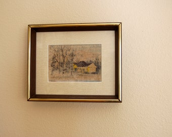 Vintage Original Signed Howard Connolly Art, Vintage Mid Century Modern Framed Howard Connolly Listed Artist from The Eclectic Interior
