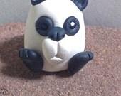 Panda Bear Miniature ~ Polymer Clay Panda Bear, Miniature Clay Totem, Cute Panda Bear, Geekery Figurine, by Classon Creations