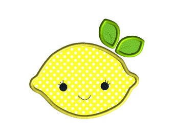 Lemon Applique Machine Embroidery Design-INSTANT DOWNLOAD