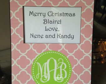 Monogrammed Personalized Frame- Design Your Own