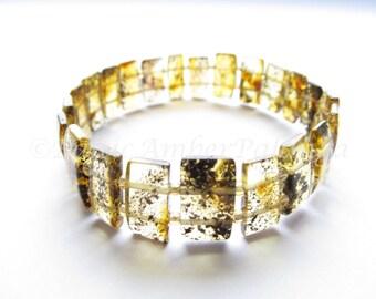 Baltic Amber Green Color Bracelet