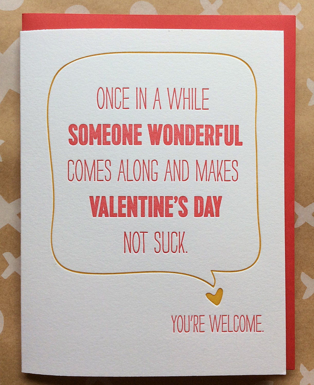 funny valentine 39 s day card sarcastic valentine 39 s by delucedesign. Black Bedroom Furniture Sets. Home Design Ideas