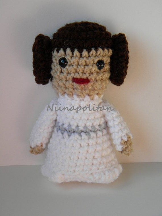Star Wars Inspired Amigurumi Doll - Princess Leia - MADE TO ORDER